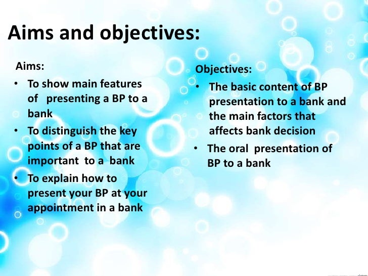 aims and objectives of types of bank accounts
