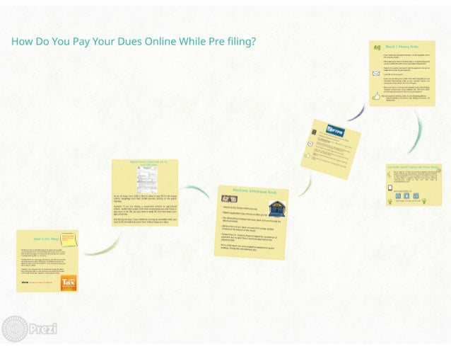 How Do You Pay Your Dues Online While Pre filing?