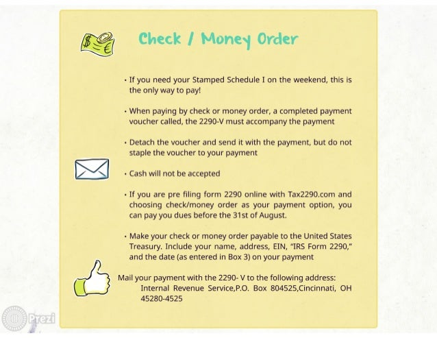 Check I Monesj Order  - If you need your Stamped Schedule I on the weekend,  this is the only way to pay!   - When paying ...