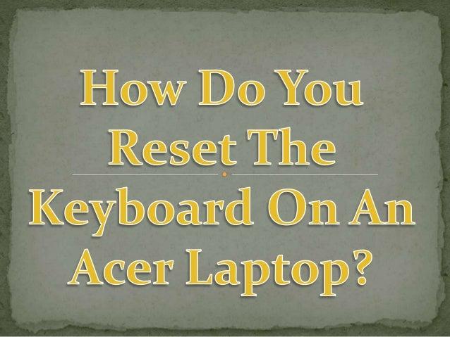 laptop reset keyboard