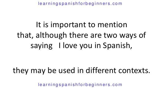 Say i love you in spanish