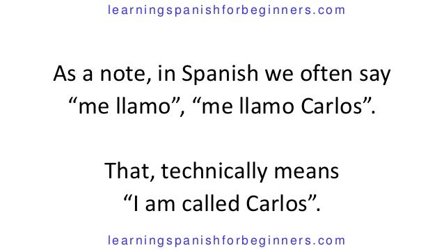 how do you say i am in spanish