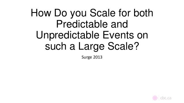 How Do you Scale for both Predictable and Unpredictable Events on such a Large Scale? Surge 2013