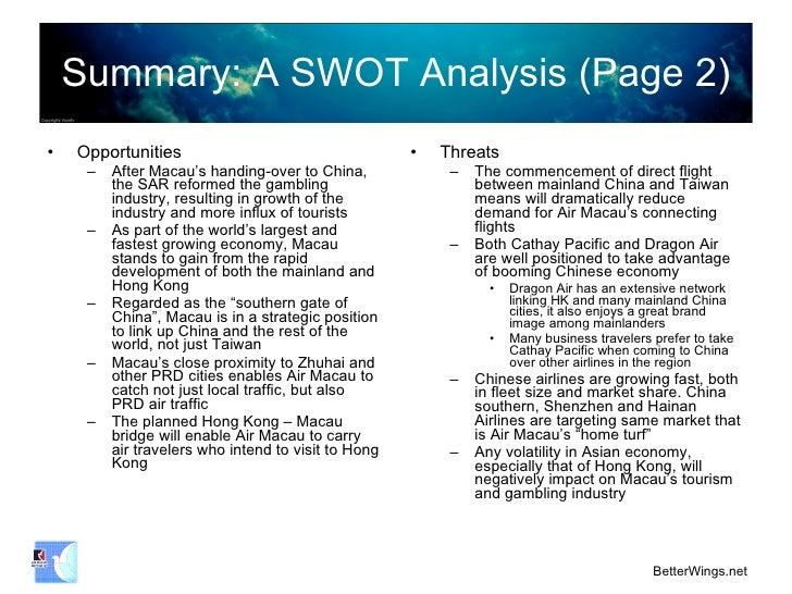 swot analysis of resort industry