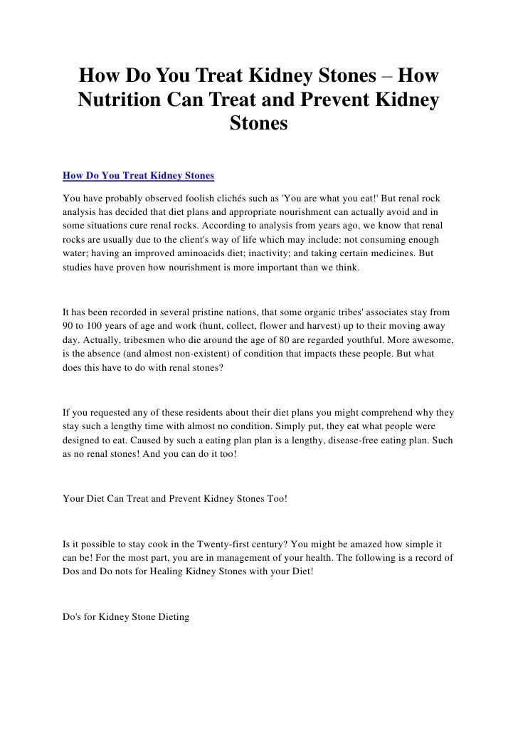 How Do You Treat Kidney Stones – How   Nutrition Can Treat and Prevent Kidney                   StonesHow Do You Treat Kid...