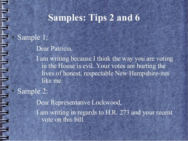 How do you write a letter to your representative samples expocarfo Choice Image