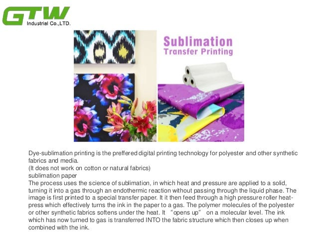 How dye sublimation printing works with sublimation materials Slide 2