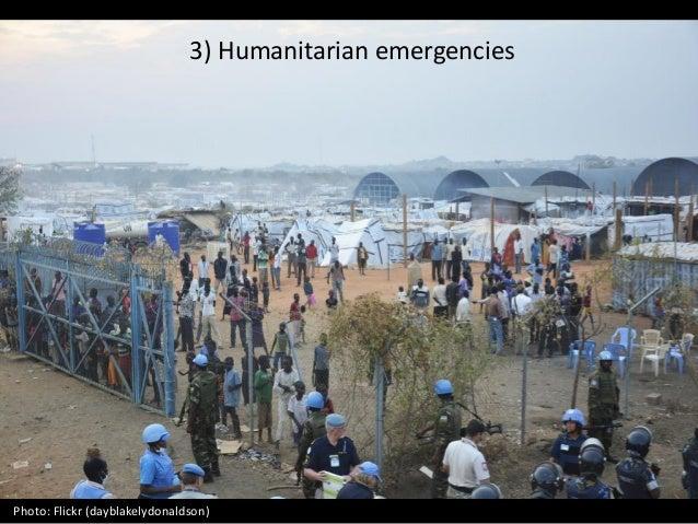 3) Humanitarian emergencies Photo: Flickr (dayblakelydonaldson)