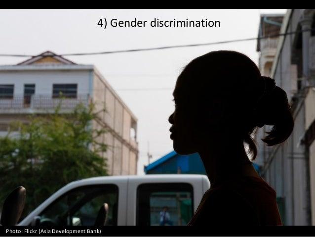 4) Gender discrimination Photo: Flickr (Asia Development Bank)