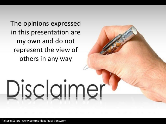 The opinions expressed in this presentation are my own and do not represent the view of others in any way Deck Design: Amm...