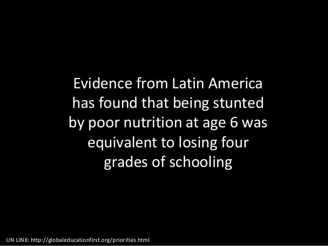 #4) Gender Discrimination UN LINK: http://globaleducationfirst.org/priorities.html Evidence from Latin America has found t...