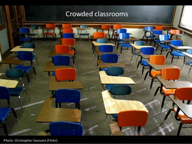 Crowded classrooms Photo: Christopher Sessums (Flickr)
