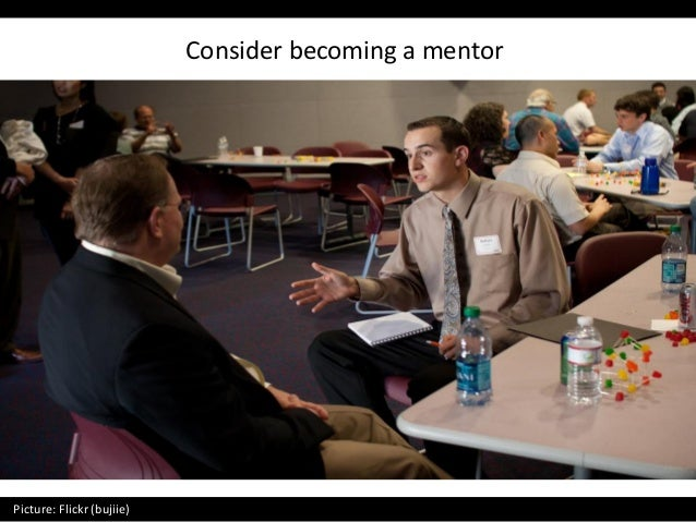 Consider becoming a mentor Picture: Flickr (bujiie)