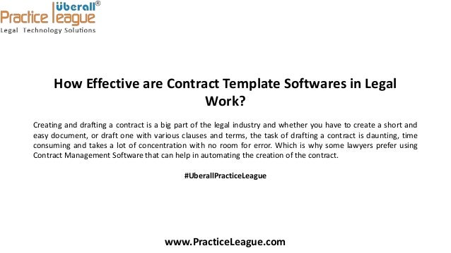 How Effective Contract Template Software In Real Time Legal Practice