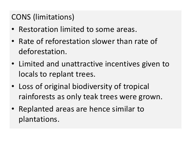 How effective is afforestation & reforestation