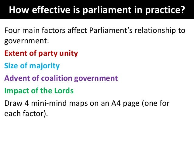 to what extent is parliamentary control of the government no longer effective Parliamentary government system is thus not legislating at all, but making and   that do have been shown to have governments that are, on average, longer-   effectively,  means that parliaments are to a large extent the recruiting grounds  for  executive, since such control requires firm control over voting in parliament, .