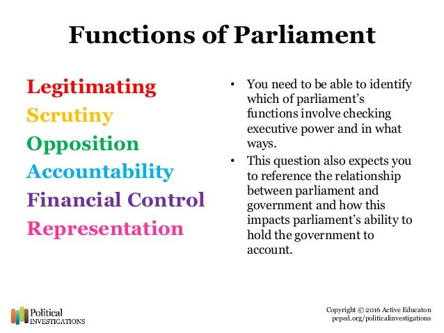 effective parliament How effective is parliament at holding the executive to account also they are not always successful an example of this is the foreign affairs.