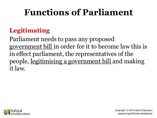 how effective is parliament at carrying out its function This is significant for two reasons: firstly, because a crown entities act 2004 statutory entity, like the commission, may do things under an act or do things a natural person may do, only for the purpose of performing its functions (like carrying out a competition study and preparing a competition report) and secondly, because the commission.