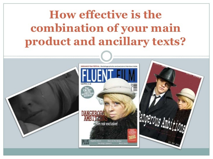 How effective is the combination of your main product and ancillary texts?<br />