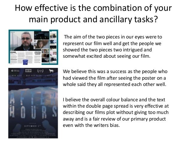 How effective is the combination of your main product and ancillary tasks? The aim of the two pieces in our eyes were to r...
