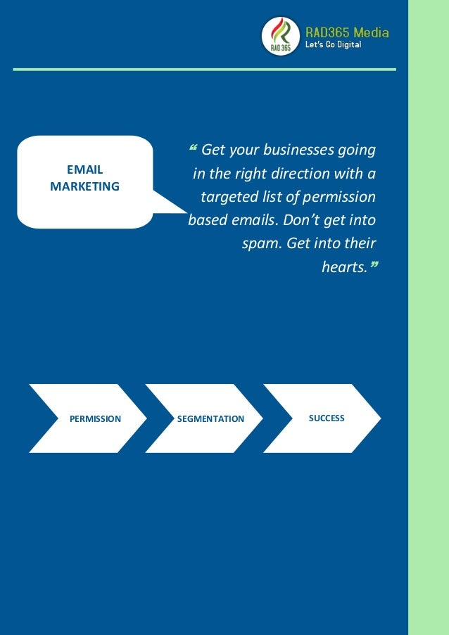 """ Get your businesses going in the right direction with a targeted list of permission based emails. Don't get into spam. G..."