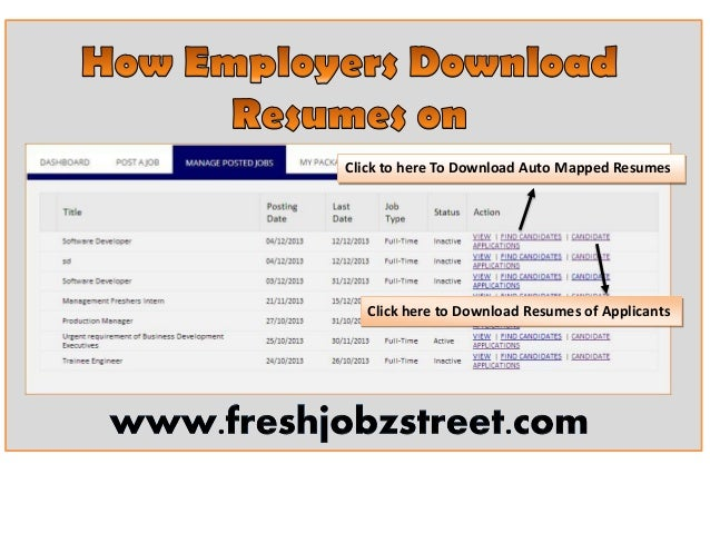 Click to here To Download Auto Mapped Resumes  Click here to Download Resumes of Applicants
