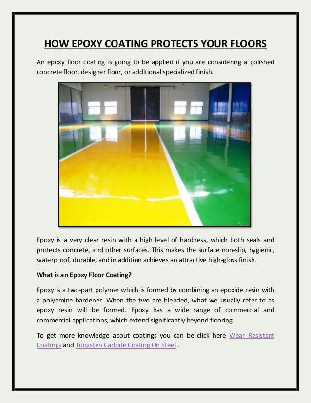 How epoxy coating can protect floor docx