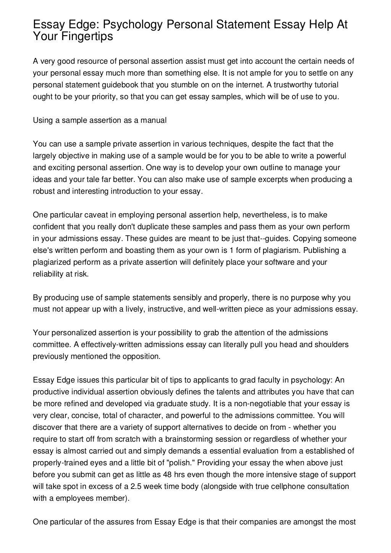 Psychodynamic essay