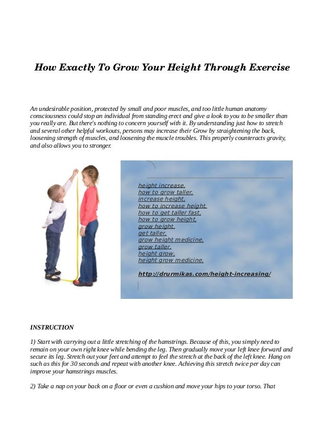 How exactly to grow your height through exercise