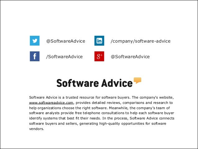 Software Advice is a trusted resource for software buyers. The company's website, www.softwareadvice.com, provides detaile...