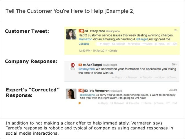 Tell The Customer You're Here to Help [Example 2] In addition to not making a clear offer to help immediately, Vermeren sa...