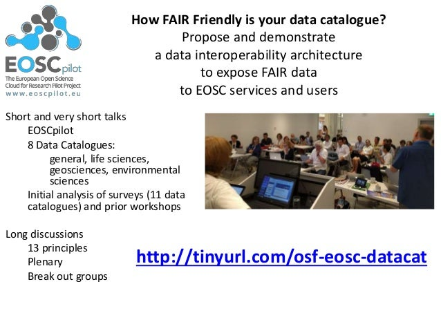 How FAIR Friendly is your data catalogue? Propose and demonstrate a data interoperability architecture to expose FAIR data...