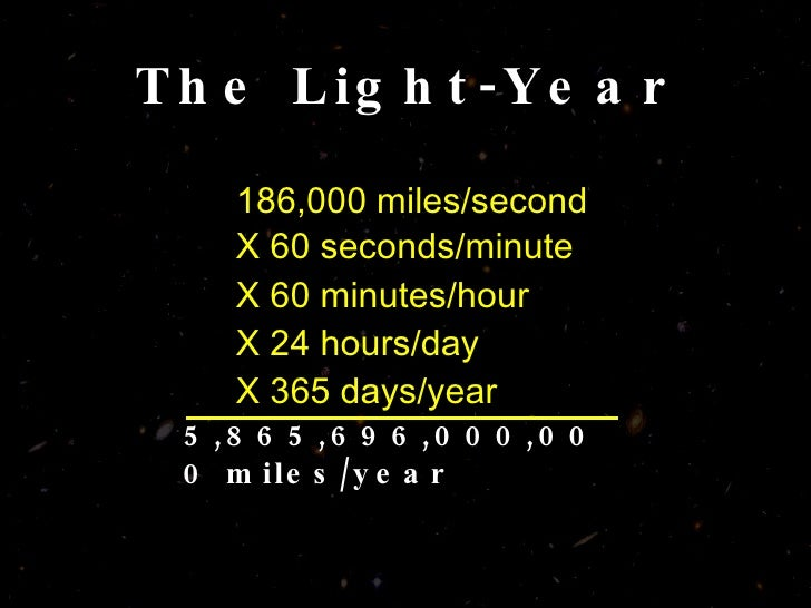 how far is a light year in miles