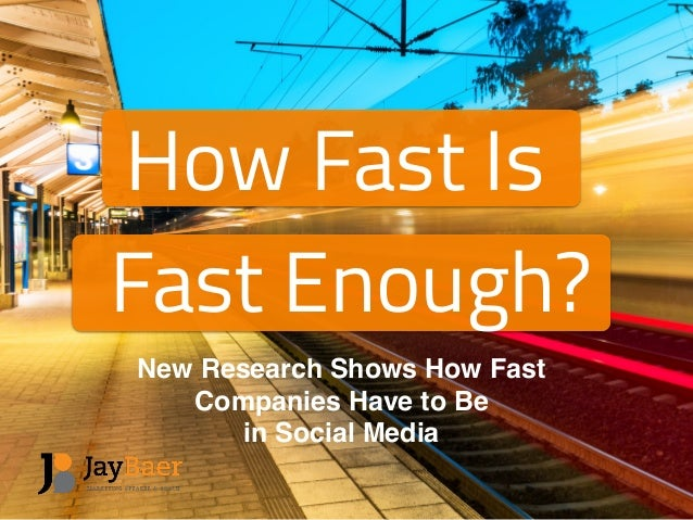 5fccf5 How Fast Is Fast Enough? New Research Shows How Fast Companies Have to Be  in Social Media