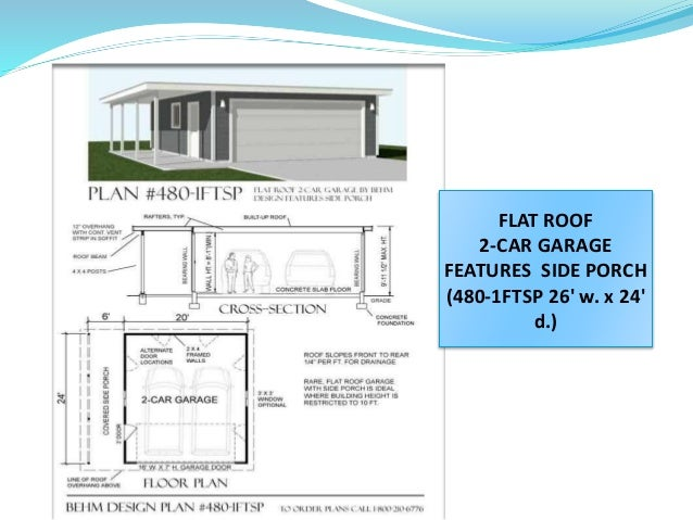 Marvelous FLAT ROOF 2 CAR GARAGE ...