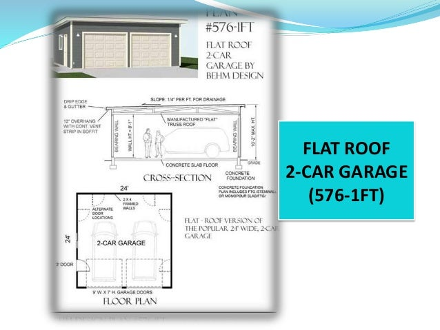 Elegant FLAT ROOF 2 CAR GARAGE (576 1FT) ...