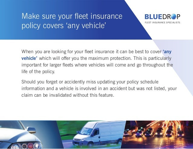 How fleet insurance works