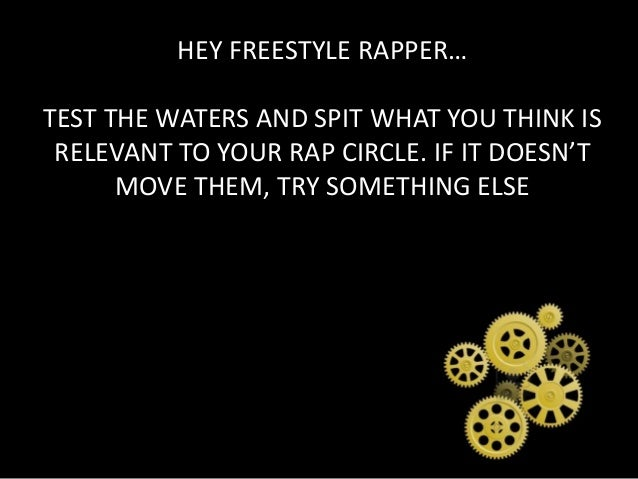 how to get better at freestyle rapping