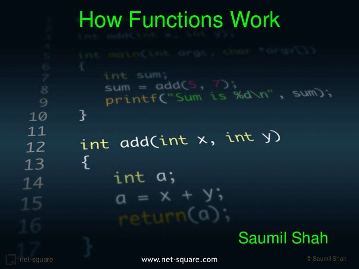 How Functions Work<br />Saumil Shah<br />Net-Square<br />www.net-square.com<br />