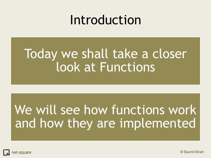 How Functions Work Slide 2