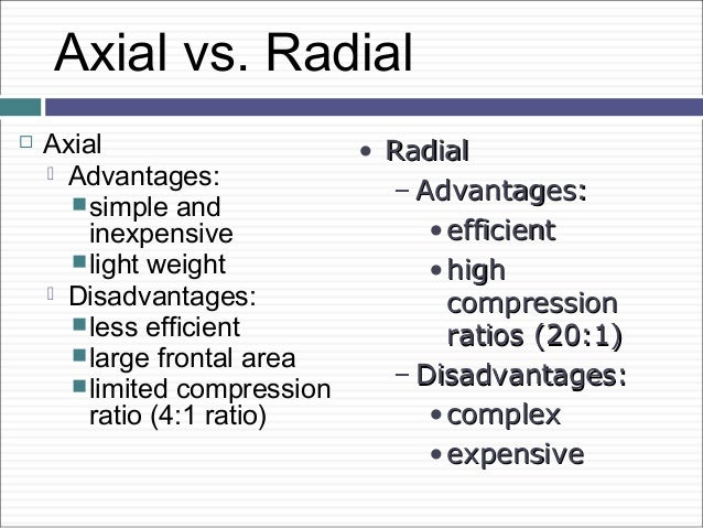 Radial Vs Axial Fan : How gas turbine engine works