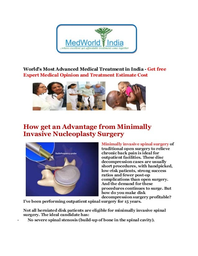 World's Most Advanced Medical Treatment in India - Get free Expert Medical Opinion and Treatment Estimate Cost How get an ...