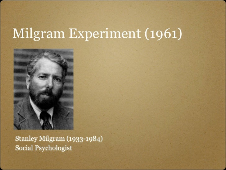 milgram experiment More shocking results: new research replicates milgram's findings 2009  stanley milgram  an authority figure conducting the experiment prodded the first.