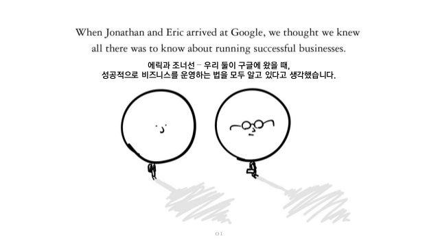 에릭과 조너선 – 우리 둘이 구글에 왔을 때, 성공적으로 비즈니스를 운영하는 법을 모두 알고 있다고 생각했습니다.