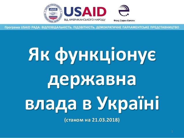 Як функціонує державна влада в Україні (станом на 21.03.2018) 1