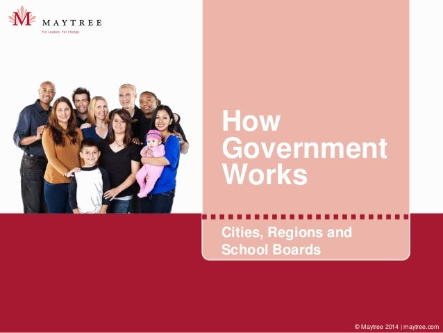 © Maytree 2014 | maytree.com How Government Works Cities, Regions and School Boards