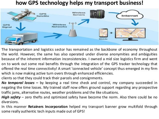How Gps Technology Helps My Transport Business