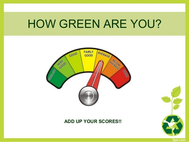 How Green Are You Questionnaire Key