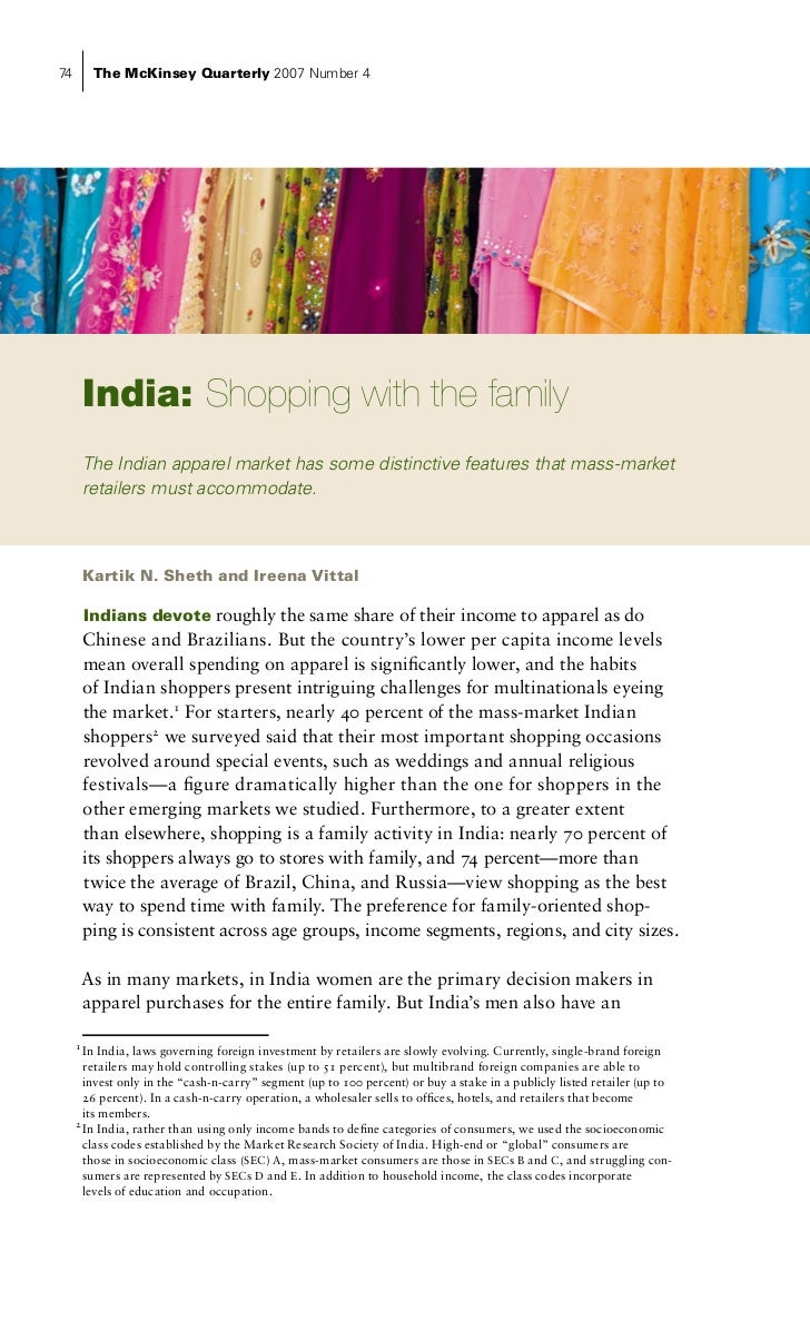 How Half The World Shops: Apparel in Brazil, China, & India