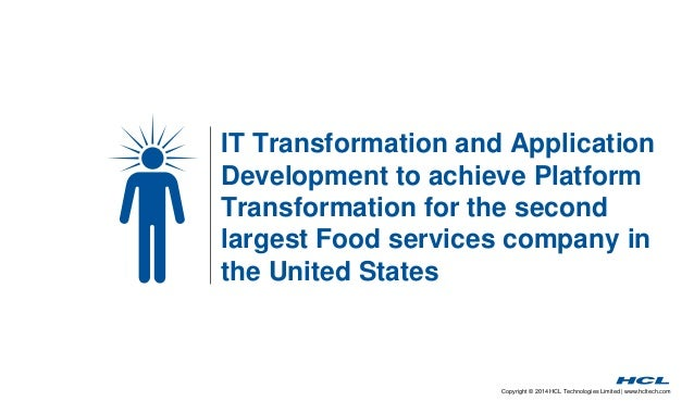 IT Transformation and Application  Development to achieve Platform  Transformation for the second  largest Food services c...
